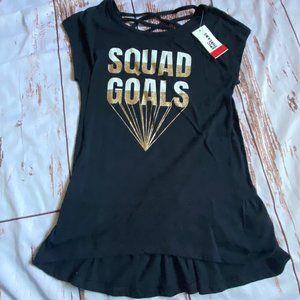 Epic Threads girls short sleeve shirt-black-size L